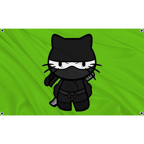 Hello Kitty in ninja uniform