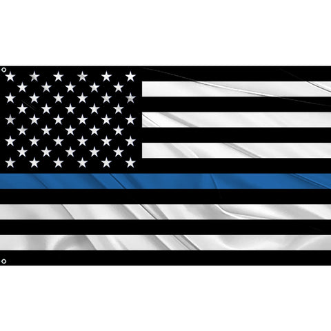 Blue Line USA Flag