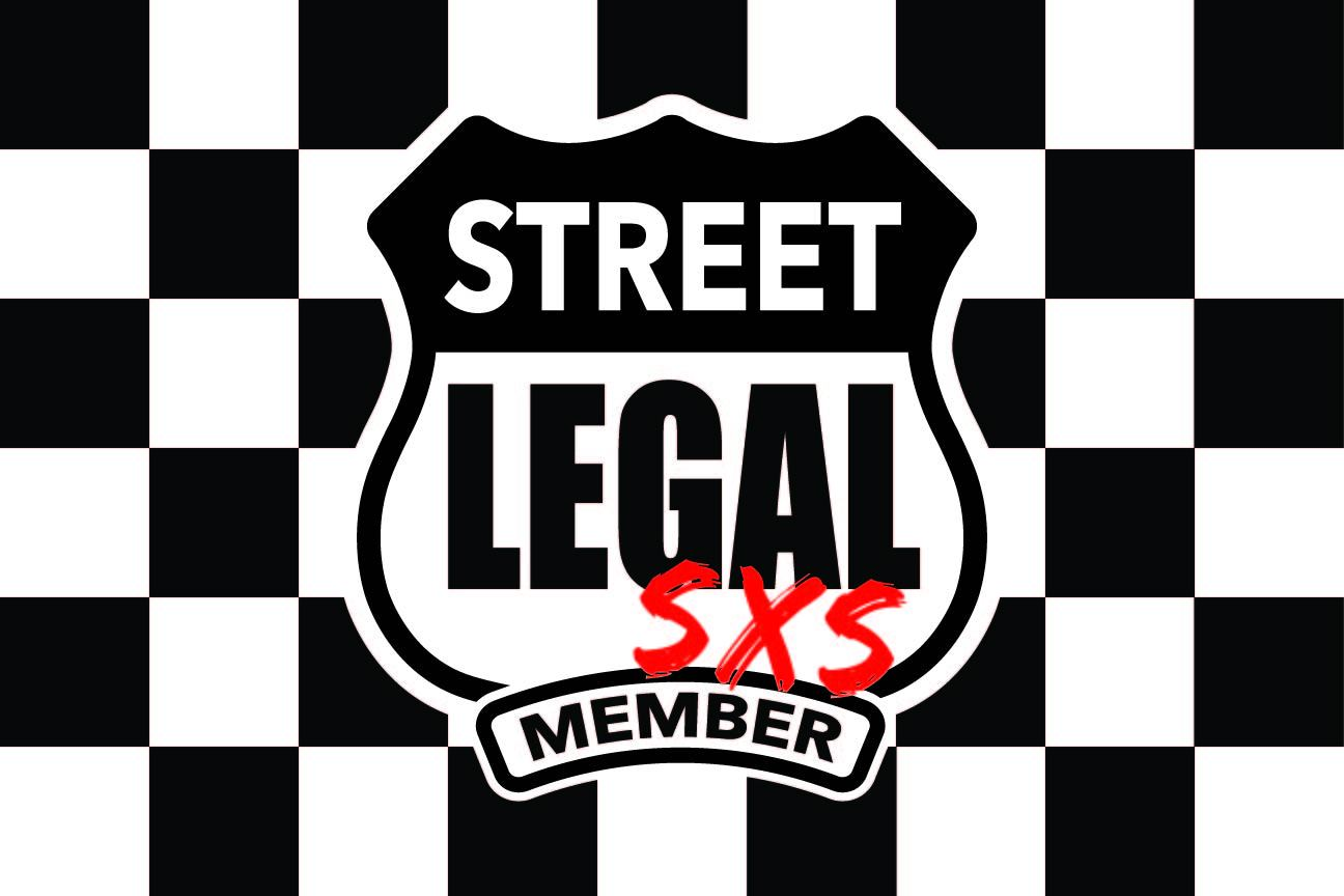 StreetLegal.us - Whip Flags - Checkered White