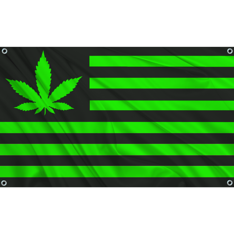 420 USA - Black w/ Green