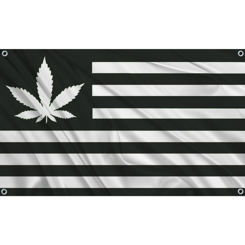 420 USA - Black w/ White