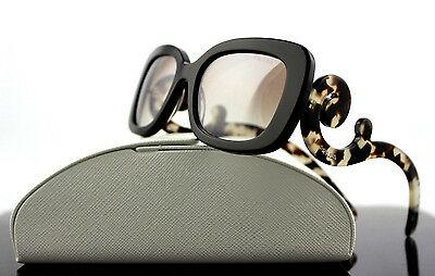 RARE Genuine PRADA Square Baroque Brown Havana Sunglasses SPR 27O UAO4O0 PR 27OS
