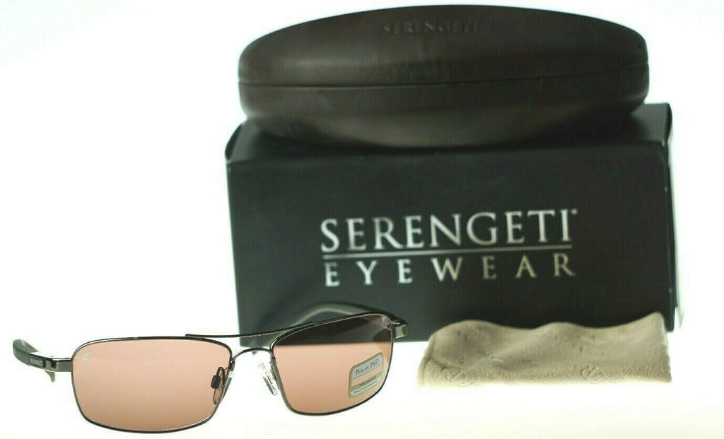 POLARIZED New SERENGETI Pareto Sedona Photochromic Lens Gunmetal Sunglasses 7575