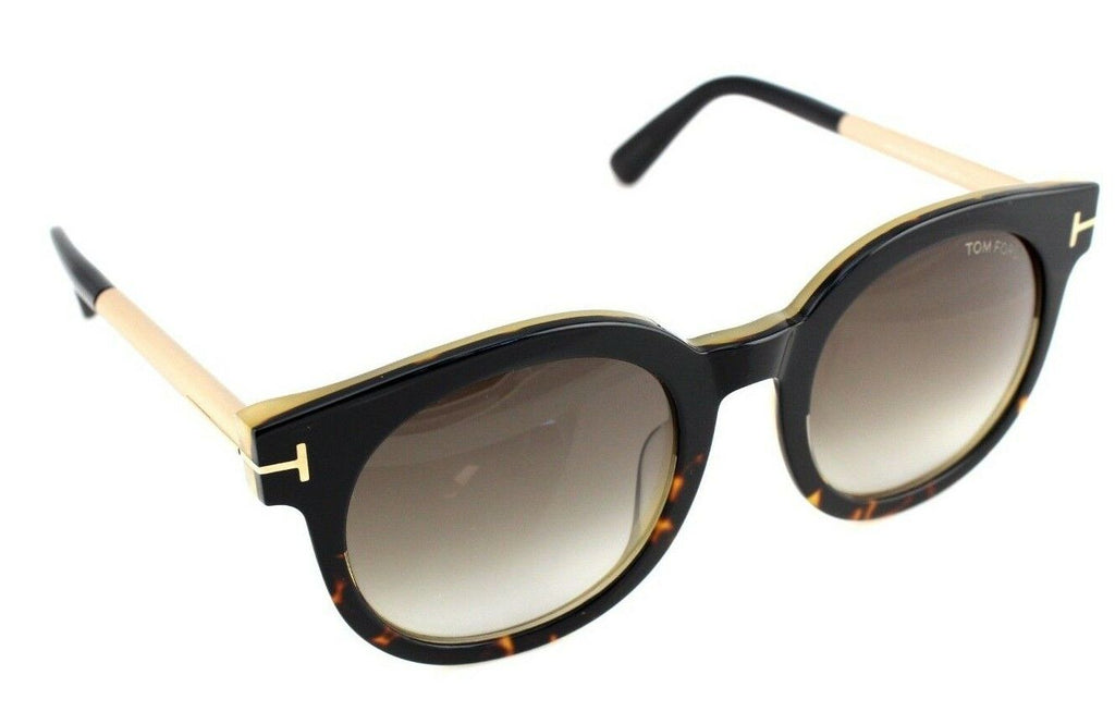 Tom Ford Janina Unisex Sunglasses TF 435 FT 0435 01K 3