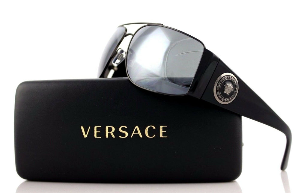 RARE NEW Genuine VERSACE Vanitas Medallion Black Grey Sunglasses VE 2163 1381/6G