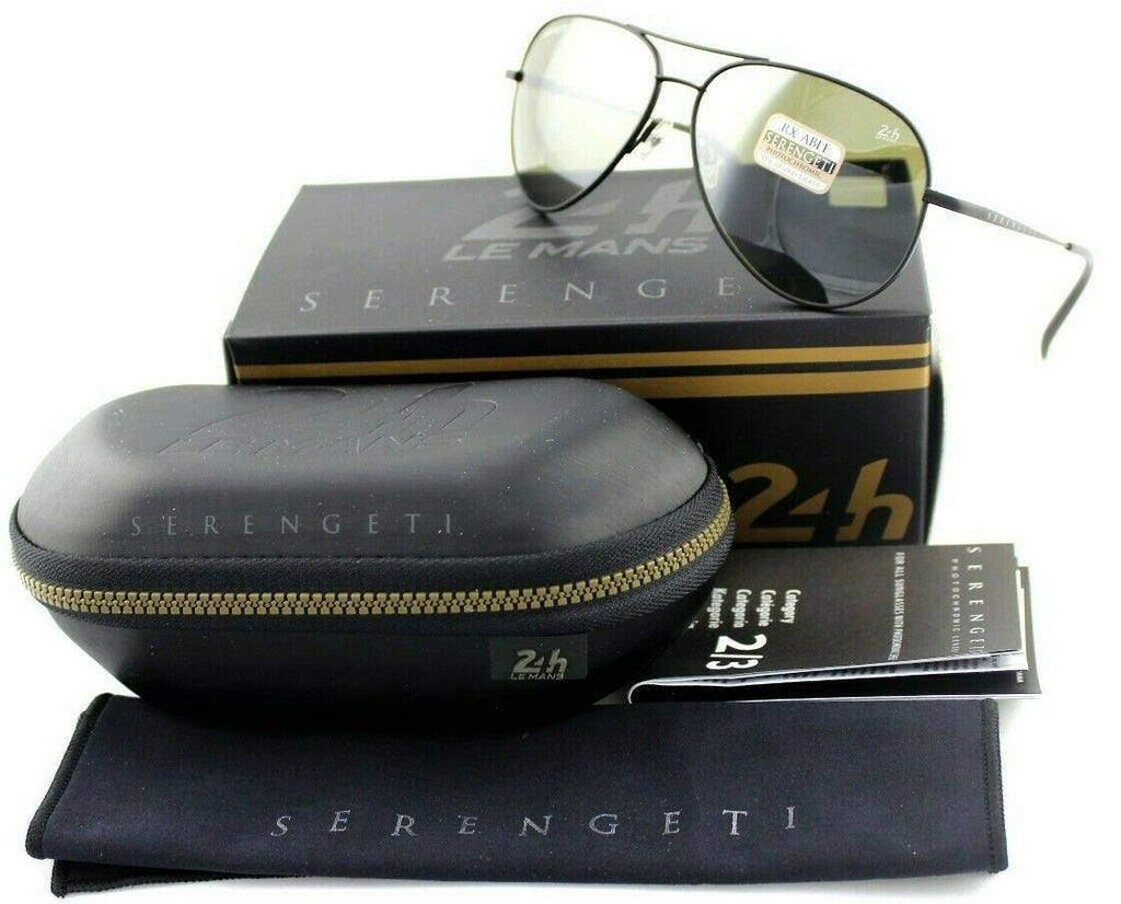 POLARIZED New SERENGETI PANAREA Photochromic Glass Lens 555NM Sunglasses 8485