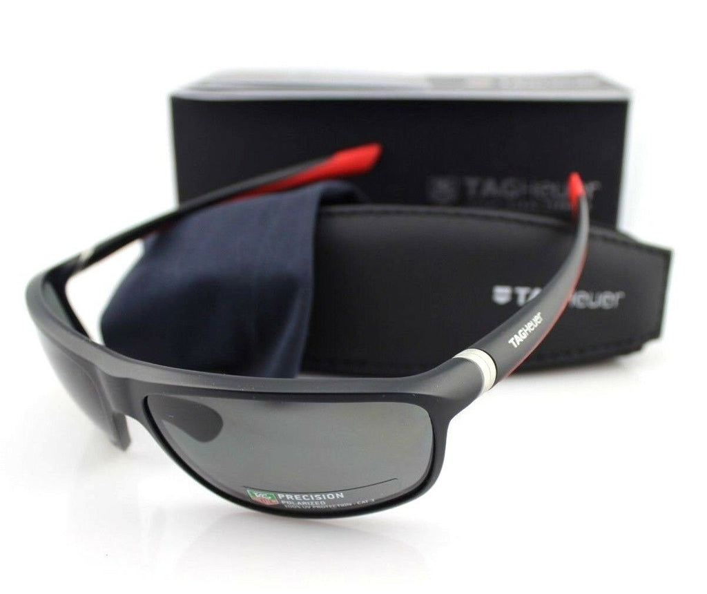 TAG Heuer 27 Degrees Wrap Unisex Polarized Sunglasses TH 6023 802 65mm 6