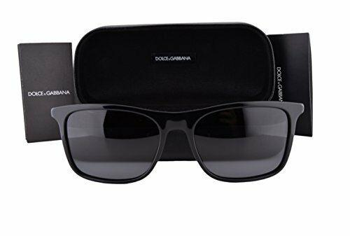 POLARIZED NEW Dolce & Gabbana Men BASALTO Square Black Sunglasses DG 4242 501/81