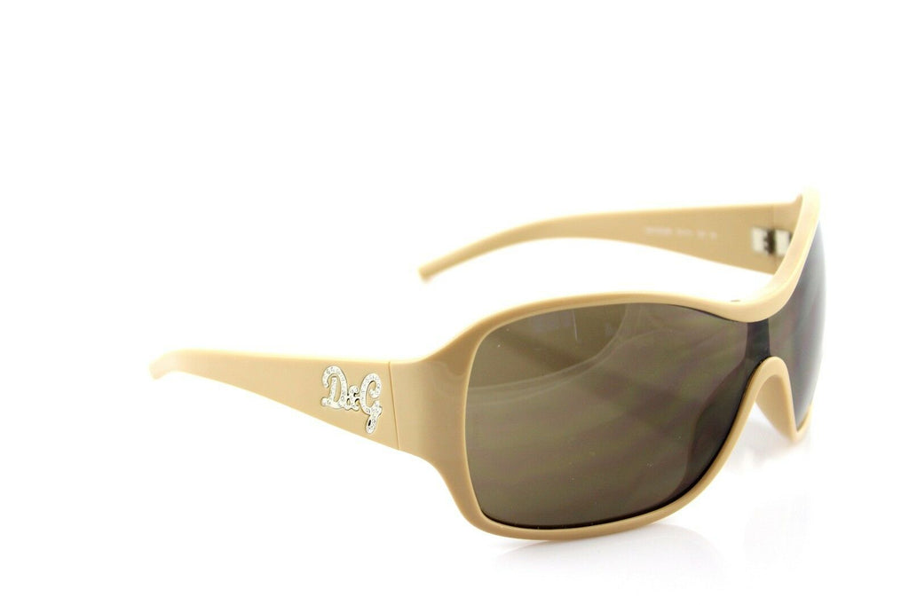 RARE NEW Authentic D&G Dolce & Gabbana Beige Crystal Sunglasses DG 8035-B 791/73