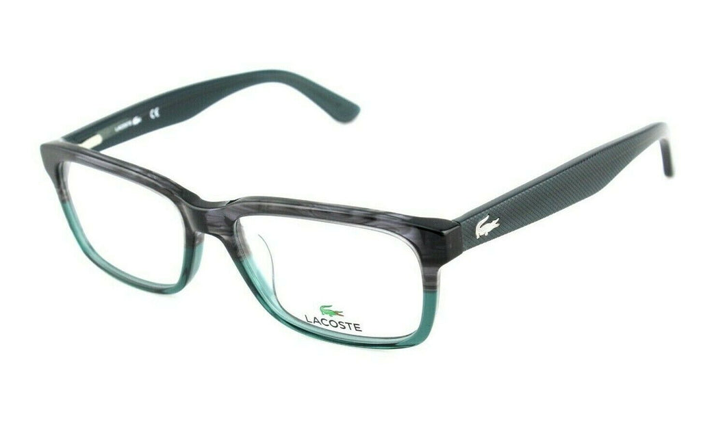 New Genuine LACOSTE OPTICAL Striped Grey Green EyeGlasses Frame L 2672 038 54