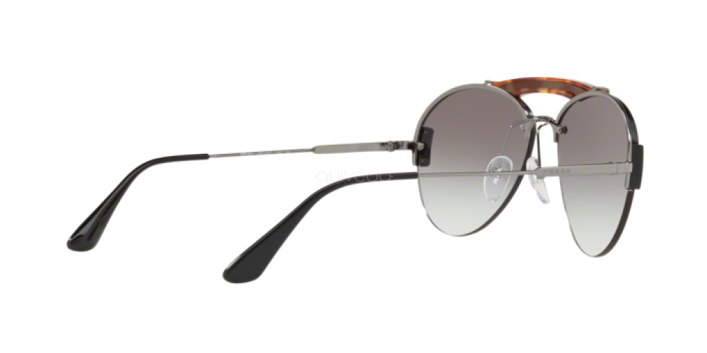 Prada Metal Plaque Evolution Unisex Sunglasses SPR 62U 2990A7 PR62 4