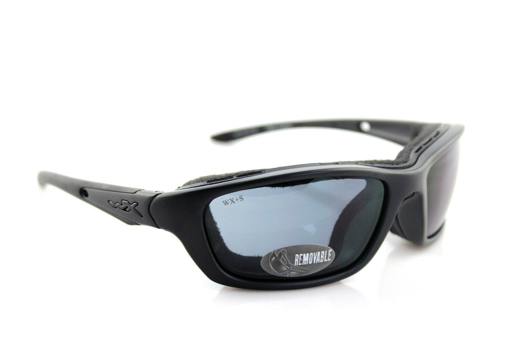 RARE Genuine WILEY X BRICK Black Ops Matte Black Smoke Grey SUNGLASSES WX+S 854