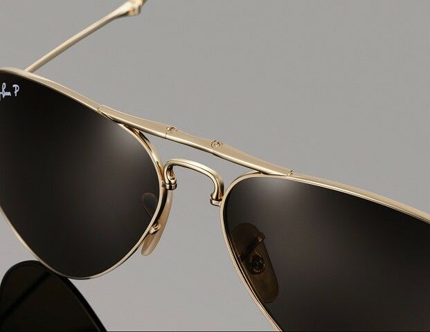 Ray-Ban 22kt Gold Plated Unisex Sunglasses RB 3479KQ 001/M7 58mm