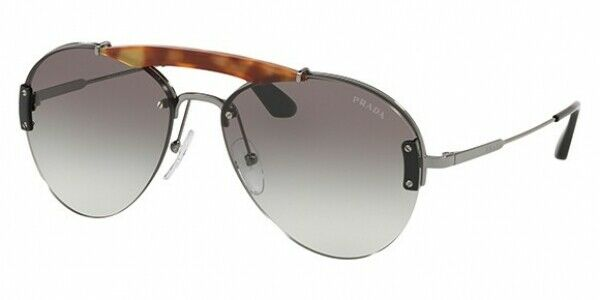 Prada Metal Plaque Evolution Unisex Sunglasses SPR 62U 2990A7 PR62 2