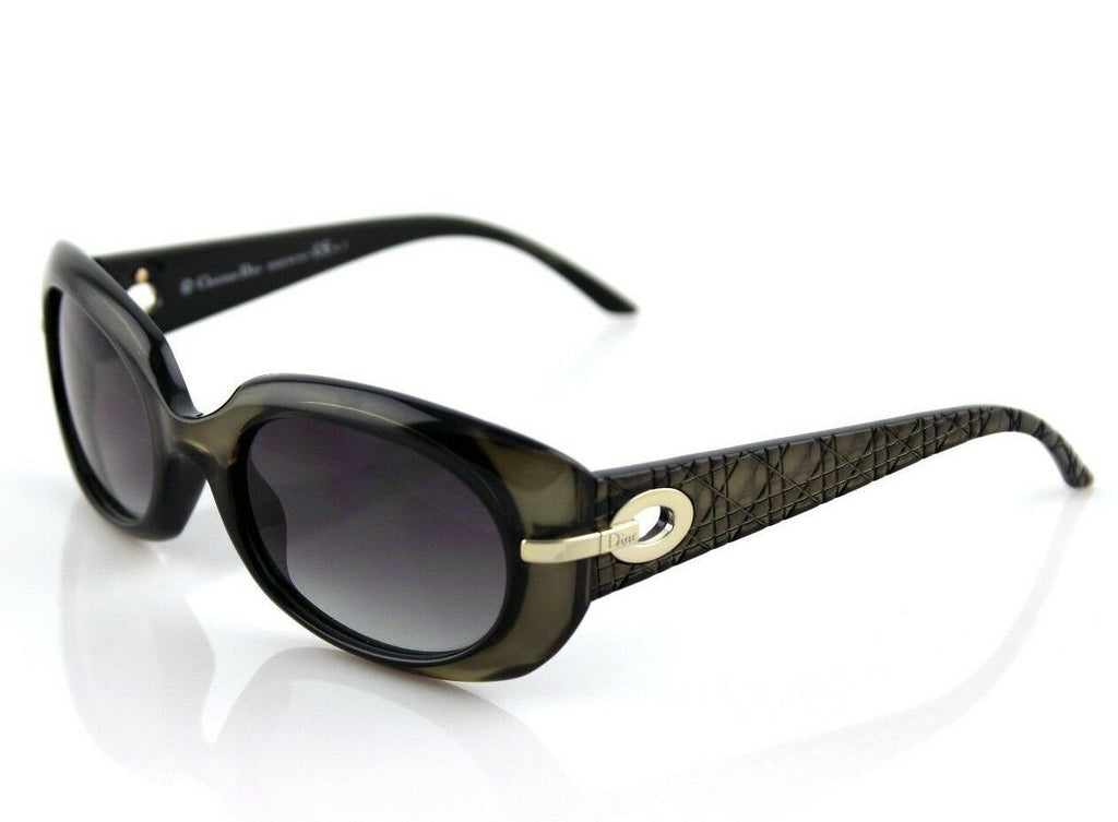 RARE NEW Christian DIOR My Lady Dior 2 Black Shiny Olive Sunglasses M9N5M