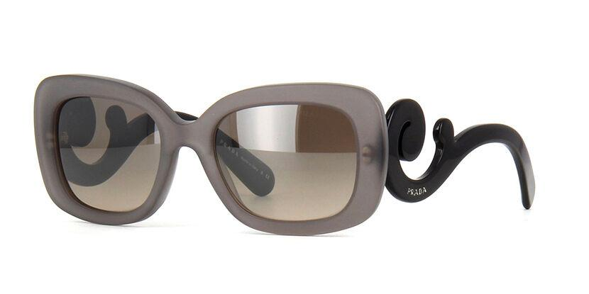 RARE Authentic PRADA Matte Grey Baroque Black Sunglasses PR 27O UBV-4P0 SPR 27O