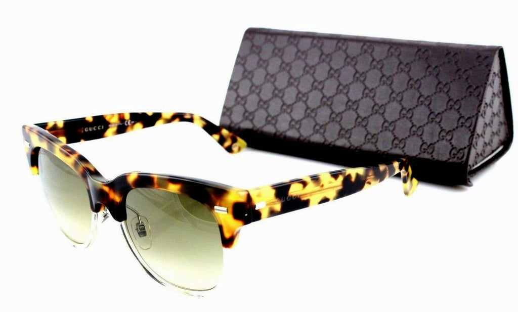 RARE NEW Genuine GUCCI Blonde Havana Crystal Brown Sunglasses GG 3744S 3MQ CC