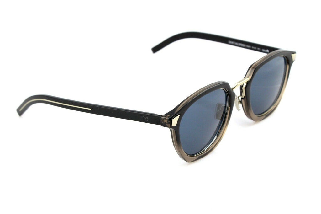 RARE NEW Genuine HOMME DIOR TAILORING 1 Brown Black Blue Lens Sunglasses 09Q KU
