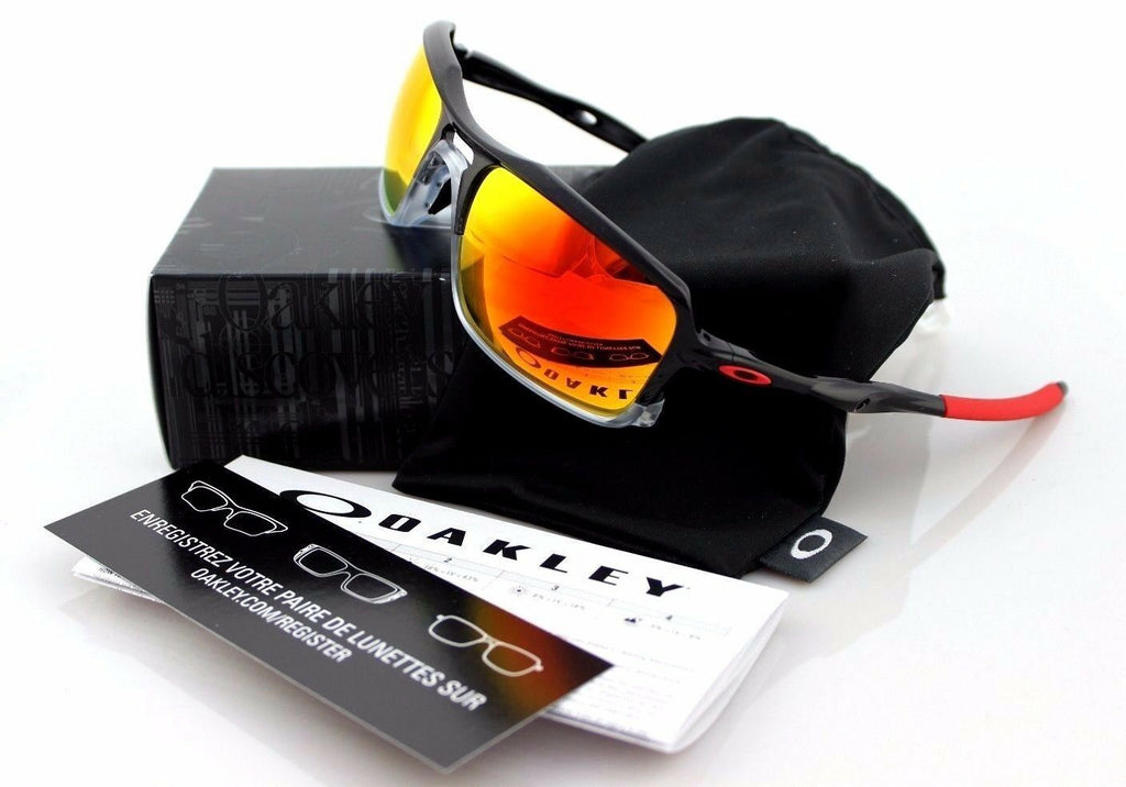 NEW Authentic OAKLEY TRIGGERMAN Black Ink Ruby Iridium Sunglasses OO 9266-10