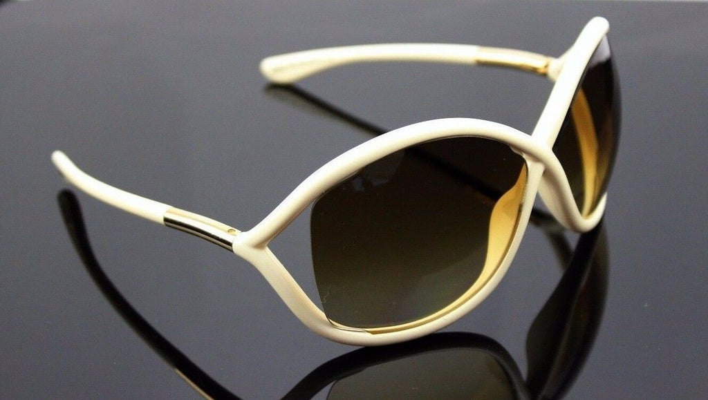 RARE New Authentic TOM FORD Whitney Shiny Ivory Sunglasses TF 009 FT 0009 342