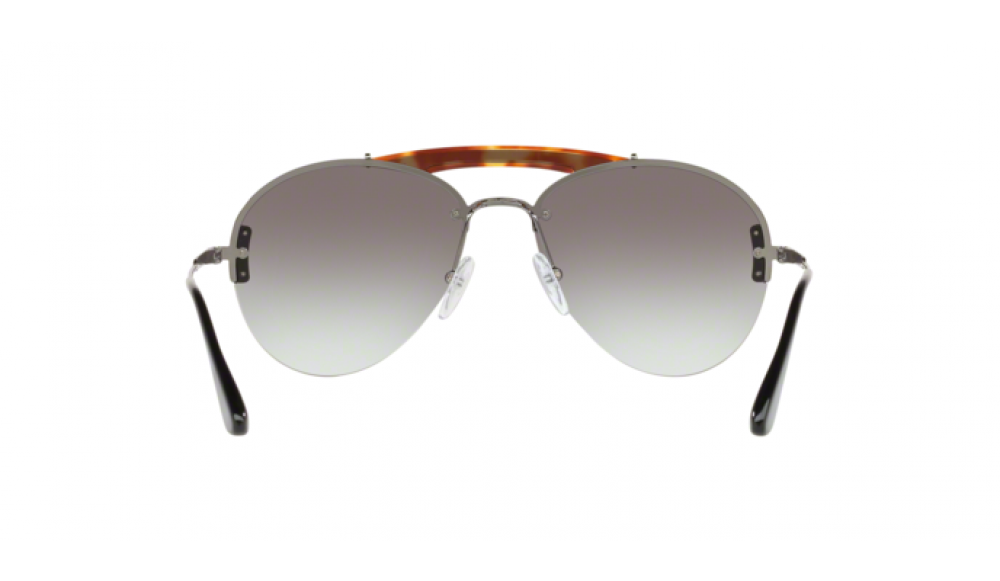 Prada Metal Plaque Evolution Unisex Sunglasses SPR 62U 2990A7 PR62 5