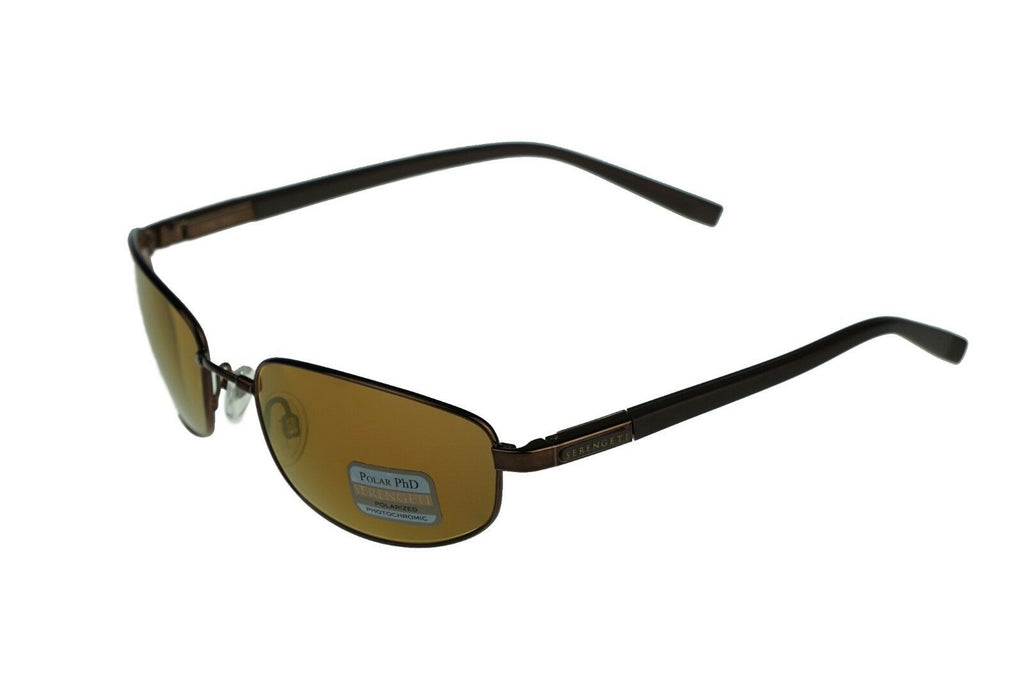 POLARIZED Serengeti MANETTI Light Brown PHD Drivers Gold Mirror Sunglasses 7577