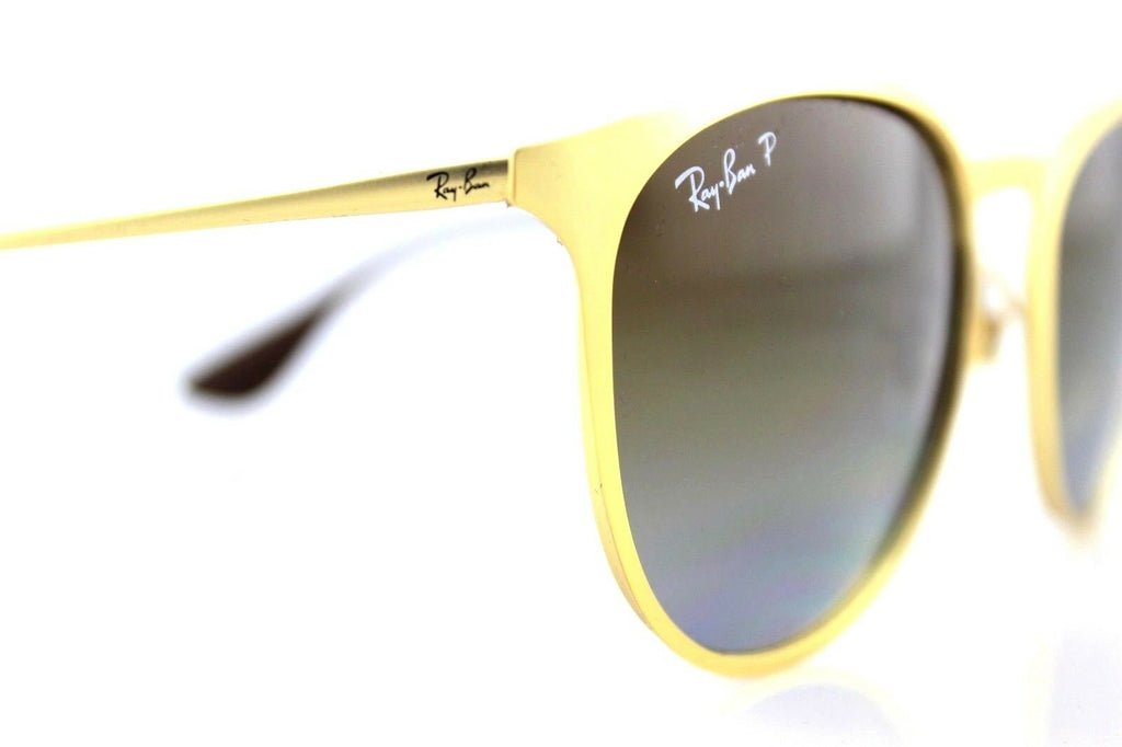 POLARIZED New Authentic RAY-BAN ERIKA METAL Gold Brown Sunglasses RB 3539 112/T5