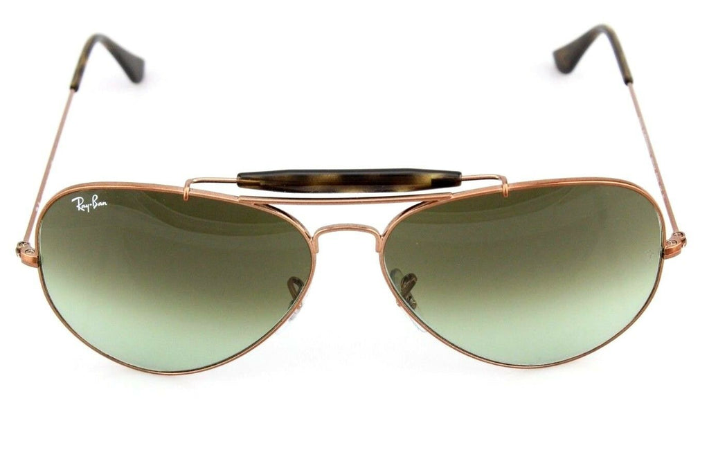 NEW Genuine Ray-Ban OUTDOORSMAN II Bronze Green Sunglasses RB 3029 9002/A6 62mm