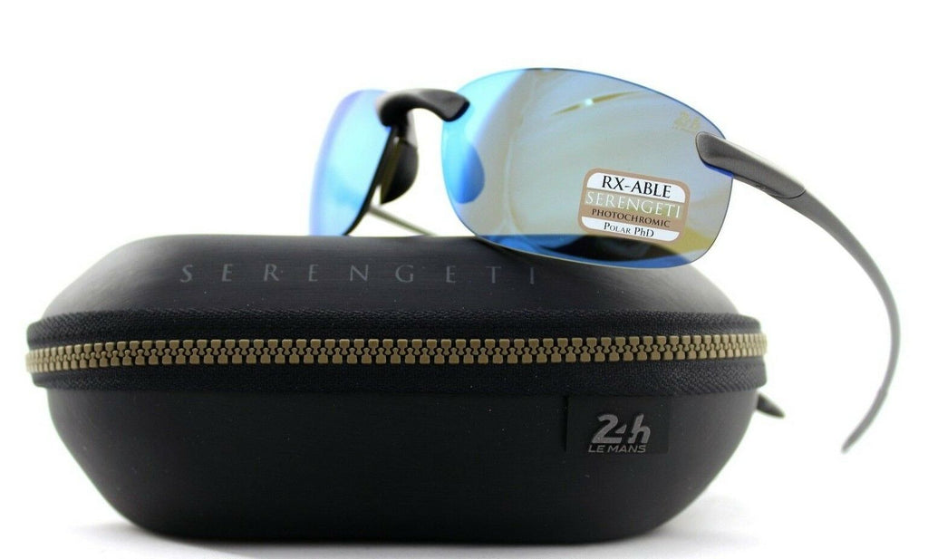 Polarized Serengeti Nuvola LM Satin Dark Gunmetal PHD 555NM Blue Sunglasses 8480