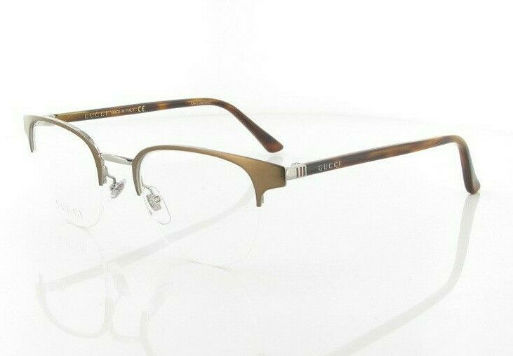 NEW Authentic GUCCI Mens Bronze Havana Metal Eye Glasses Frame GG 0020O 003 20O