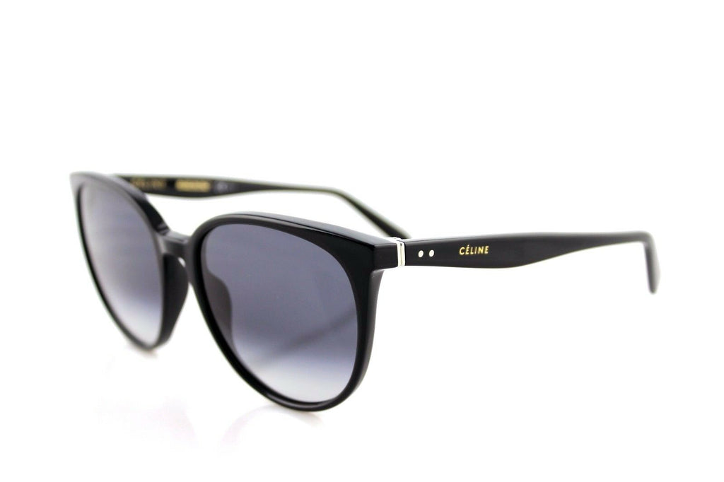 RARE Authentic CELINE THIN MARY Ladies Black Grey Sunglasses CL 41068/S 807 W2