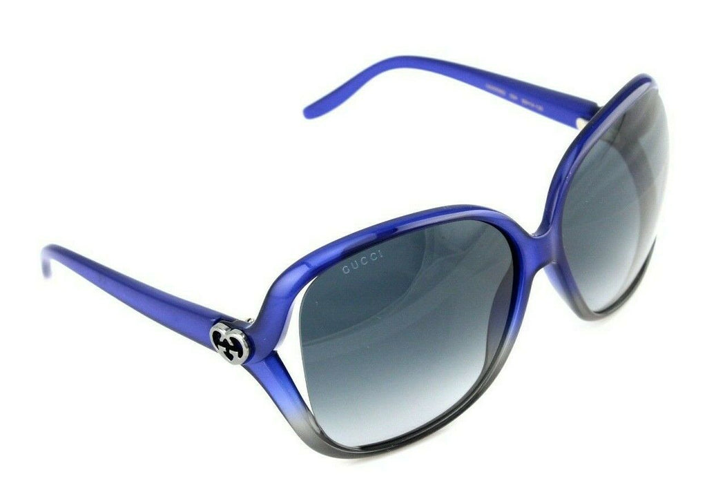 RARE NEW Genuine GUCCI Blue Grey Womens Over Sized Sunglasses GG0506S 004