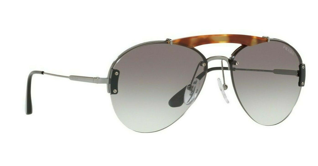 Prada Metal Plaque Evolution Unisex Sunglasses SPR 62U 2990A7 PR62 6