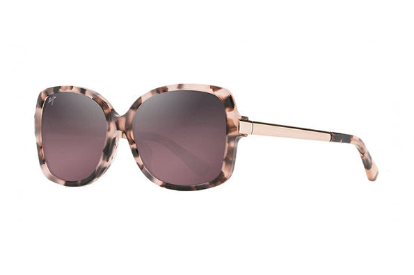 MAUI MELIKA RS760-09T PINK TORTOISE WITH ROSE GOLD TEMPLES (MAUI ROSE POLARISED LENS)
