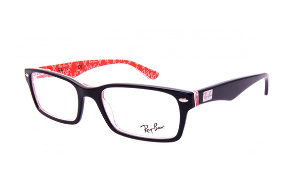 bf2e167f69 Details about NEW Genuine Ray Ban RX5206 2479 54 Top Black on Texture Red  Mens Womens Glasses