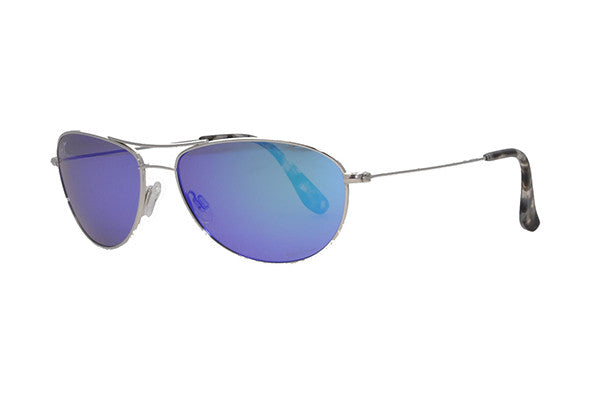 a7fa0fb63bf NEW Maui Jim Blue Hawaii Baby Beach B245-17 Silver Unisex Sun Polarised