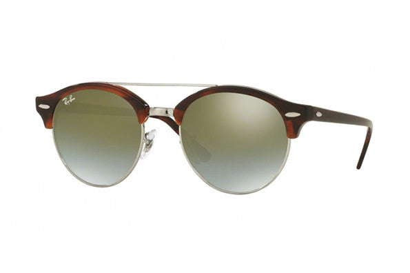 Ray Ban RB4346 51mm Shiny Red Havana frame, Green Mirror Shaded lens