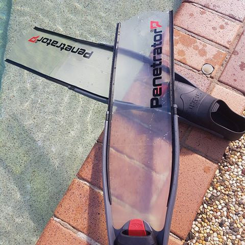 "Penetrator - NEW ""GHOST"" Clear Composite Fibre Fin Blades"