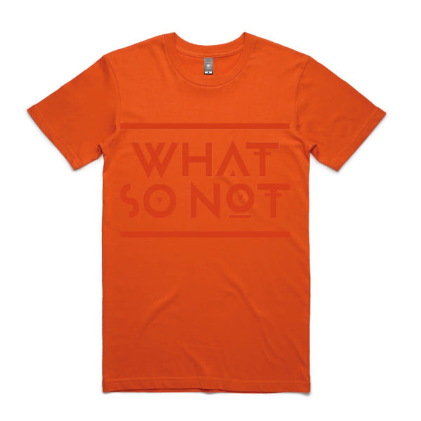 What So Not Orange Logo Tee