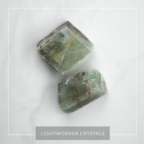 Green Calcite Cube
