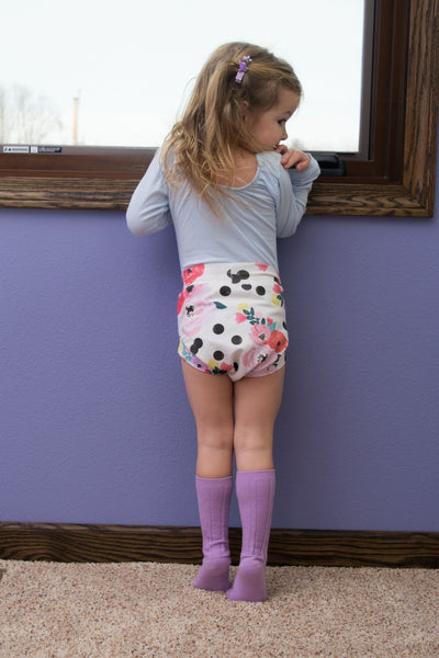 Polka dot floral Shorts & Bummies