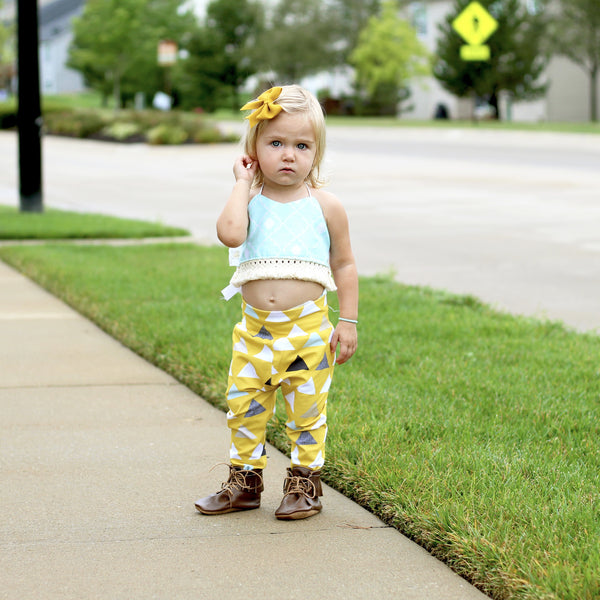 Mustard Triangles Leggings