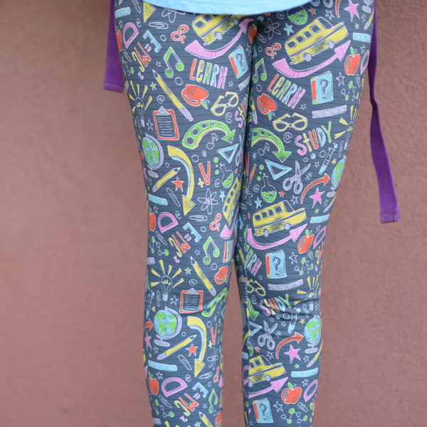 School Leggings Big girl (black)