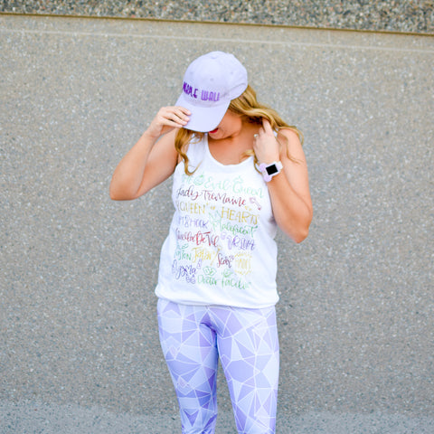 Purple Wall womens leggings