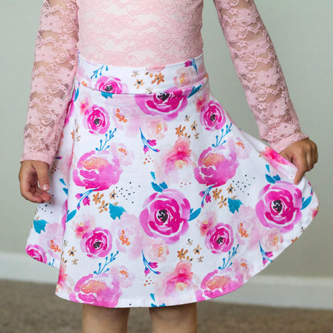 Punchy Floral Skirt