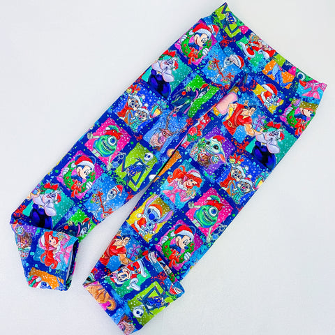 Holiday Sqaures big girl leggings