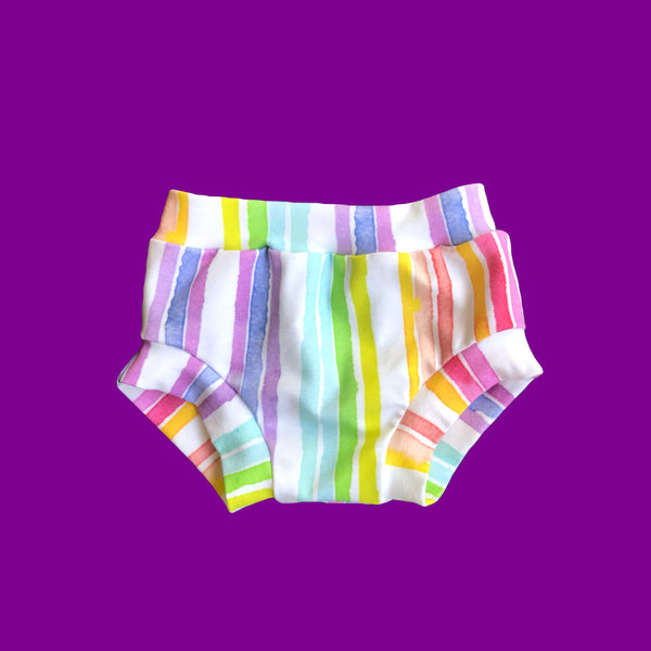 Rainbow stripe Shorts & Bummies