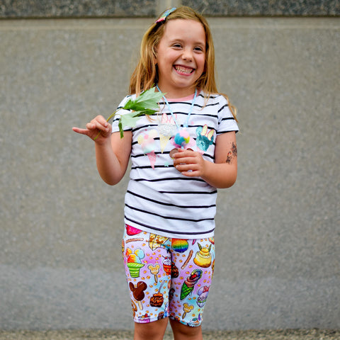 Rainbow Snack Biker Shorts