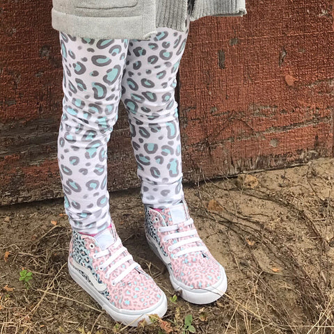 Mint Leopard Leggings