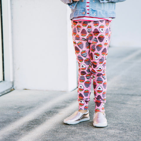 Chocolate Strawberry Big girl leggings